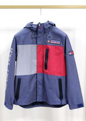 Giubbino Tommy Hilfiger Sport tech jacket mid blue denim taglia s SM0DM07623