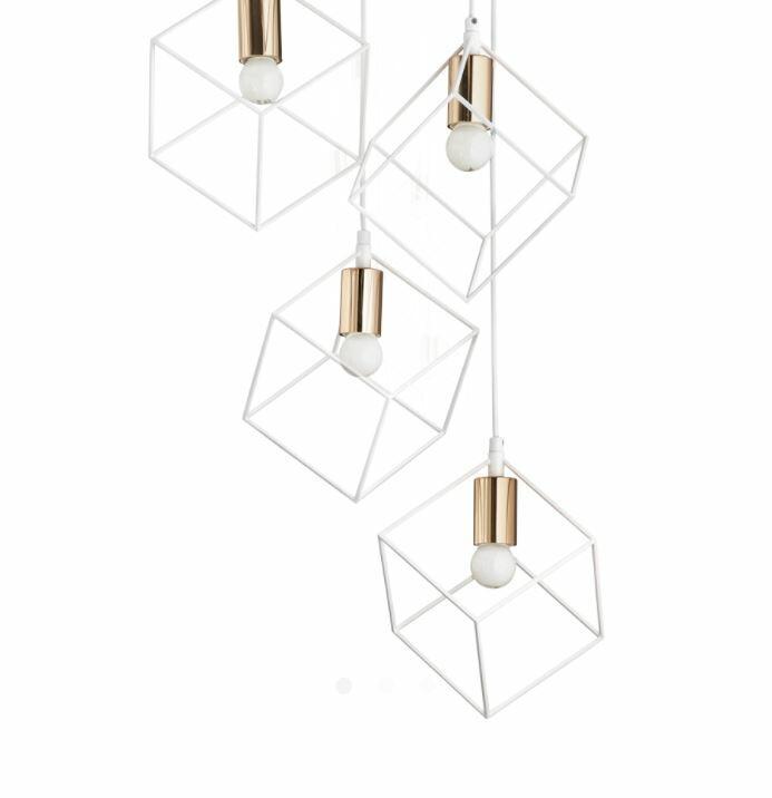 Lampada a Sospensione ICE SP5 in Metallo Verniciato e Ottone Satinato di Ideal Lux, Varie Finiture - Offerta di Mondo Luce 24