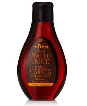 Superabbronzante Idratante, Olio al Mallo di Noce e Olio di Carota - 100 ml - red Diva