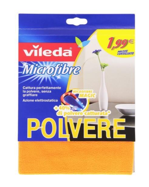 Vileda Panno Polvere, Panno in Microfibra, Azione Elettrostatica, Lavabile in Lavatrice, Mobido, Delicato, 40 x 30 x 0.4 cm