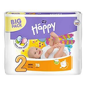 Pannolini Happy 2 MINI 3-6 Kg - BIG 78 pz