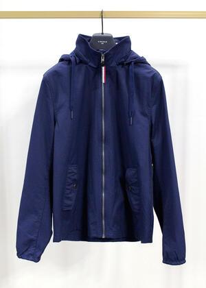 Giubbino Tommy Hilfiger Sample Hooded jacket blu taglia M da uomo DM0DM07579CBK