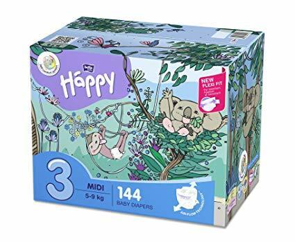 Pannolini Happy 3 MIDI 5-9 Kg - BOX 144 pz