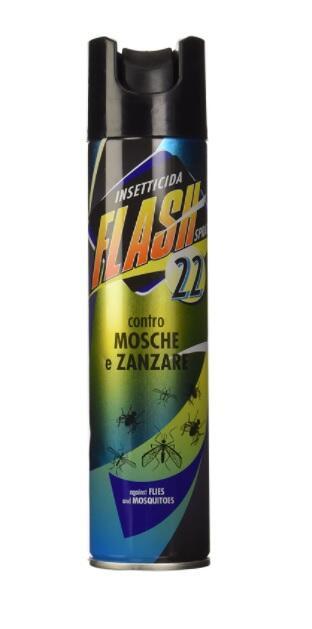 Flash 22 Inseticida contro Mosche e Zanzare, 250ml