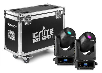 Beamz Pro - IGNITE120 LED SPOT 120W 2 pezzi con FLIGHTCASE