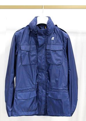 Giubbino giaccone K-WAY blu navy da uomo primaverile taglia s K00AXU0/D33