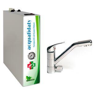 Depuratore acqua osmosi inversa Acquafidaty Compact con miscelatore tre vie Prestige.