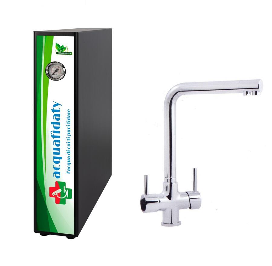 Depuratore acqua osmosi inversa Acquafidaty Elite e miscelatore 3 vie Alto.