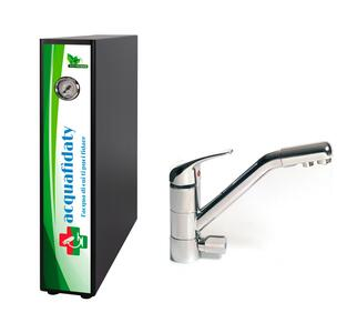 Depuratore acqua osmosi inversa Acquafidaty Elite e miscelatore 3 vie Prestige.