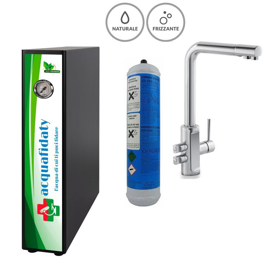 Depuratore acqua osmosi inversa Acquafidaty Elite Frizzante con miscelatore 4 vie Alto.