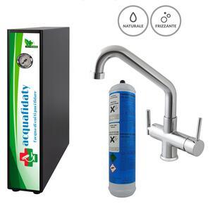 Depuratore acqua osmosi inversa Acquafidaty Elite Frizzante con miscelatore 4 vie Elios.