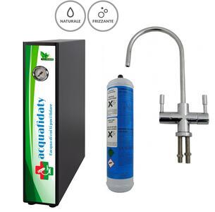 Depuratore acqua osmosi inversa Acquafidaty Elite Frizzante con rubinetto 2 vie Elegance.