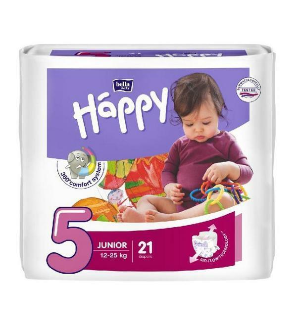 Pannolini Happy 5 JUNIOR 12-25 Kg - 21 pz