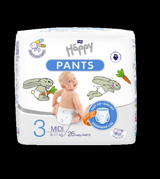 Pannolini PANTS Happy Tg 3 (6-11 Kg) - 26 pz