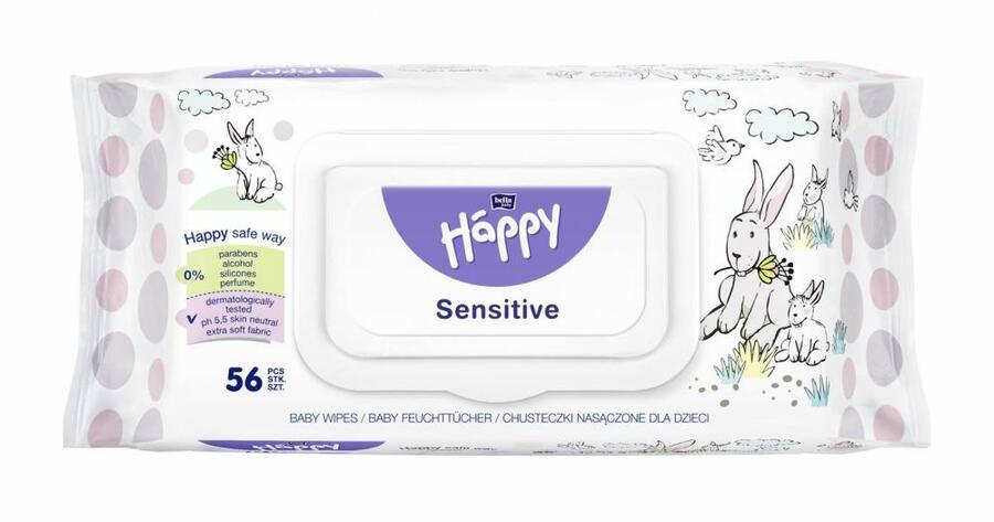 Salviette Sensitive  Aloe Vera - 56 pz - chiusura salva freschezza