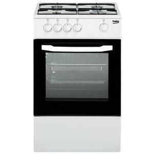 BEKO Cucina a Gas CSG42001FW 4 Fuochi a Gas Forno Gas Dimensioni 50 x 50 cm Colore Bianco