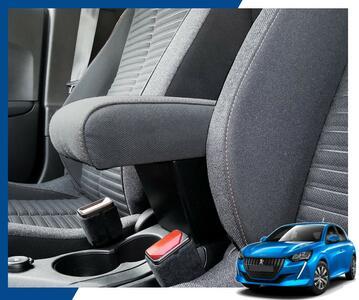 Bracciolo regolabile con portaoggetti per Peugeot 208 (dal 03/2019>)