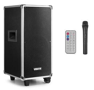 "Vonyx - ST095 PORTABLE SOUND SYSTEM 8"" CD/UHF/MP3 WITH BT"