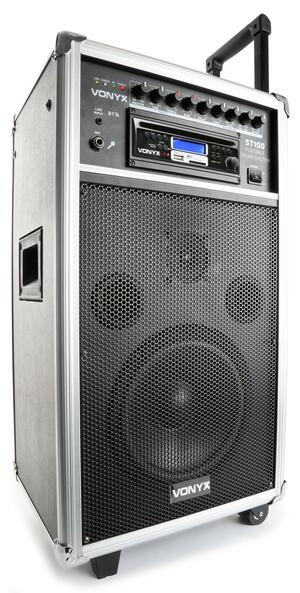 """Vonyx - ST100 MK2 PORTABLE SOUND SYSTEM 8"""" BT/CD/MP3/UHF"""