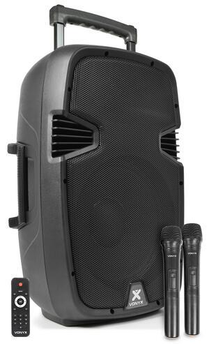 "Vonyx - SPJ-PA912 PORTABLE SOUND SYSTEM ABS 12"" 2 UHF/USB/MP3"