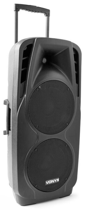 "Vonyx - SPX-PA9210 PORTABLE SOUND SYSTEM ABS 2X10"""