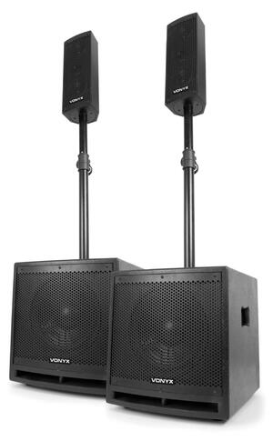 Vonyx - VX1000BT ACTIVE SPEAKER KIT 2.2
