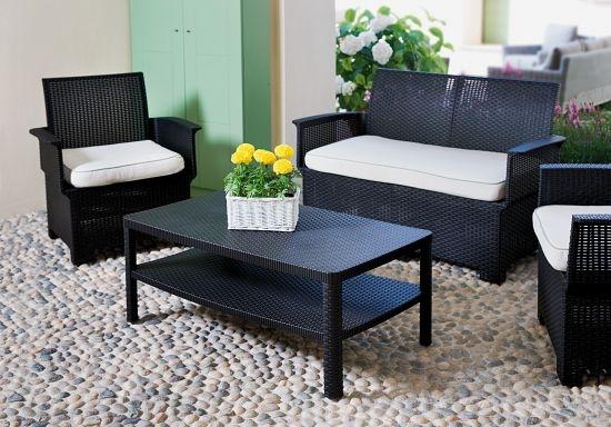 Set divanetti da giardino in Rattan CERVIA moro Set100M Wicker stampato SOTTOCOSTO