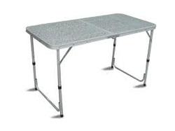 Tavolo campeggio alluminio 120x60 pieghevole valigetta piano formica TAPA 41