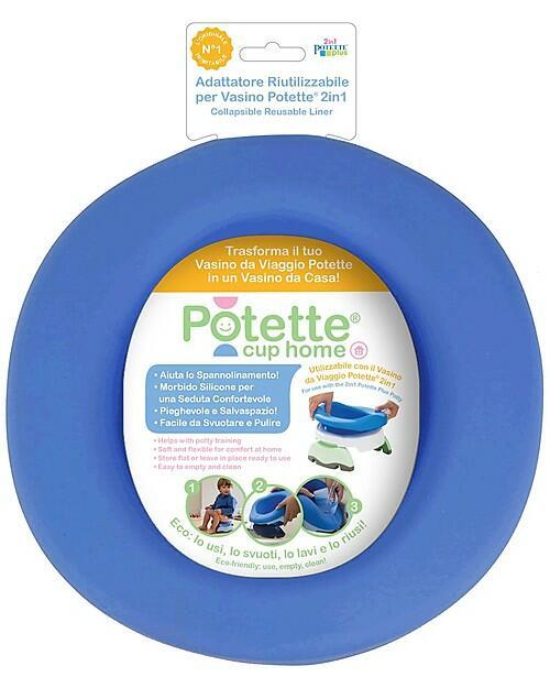 Potette Cup Home, Adattatore Riutilizzabile per Vasino Potette 2in1, Ecologico - Blu
