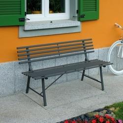 Panca da giardino GALLIPOLI panchina esterno 3 posti 150x58 struttura ferro antracite