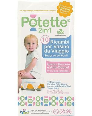 Ricambi per Vasino Potette 2in1, 10 pezzi, Superassorbenti e Antiodore