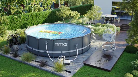 Piscina INTEX 26326 PLUS Ultra XTR Frame ultraframe rotonda 488 x 122 cm con pompa a sabbia 26326 modello nuovo EX 28324