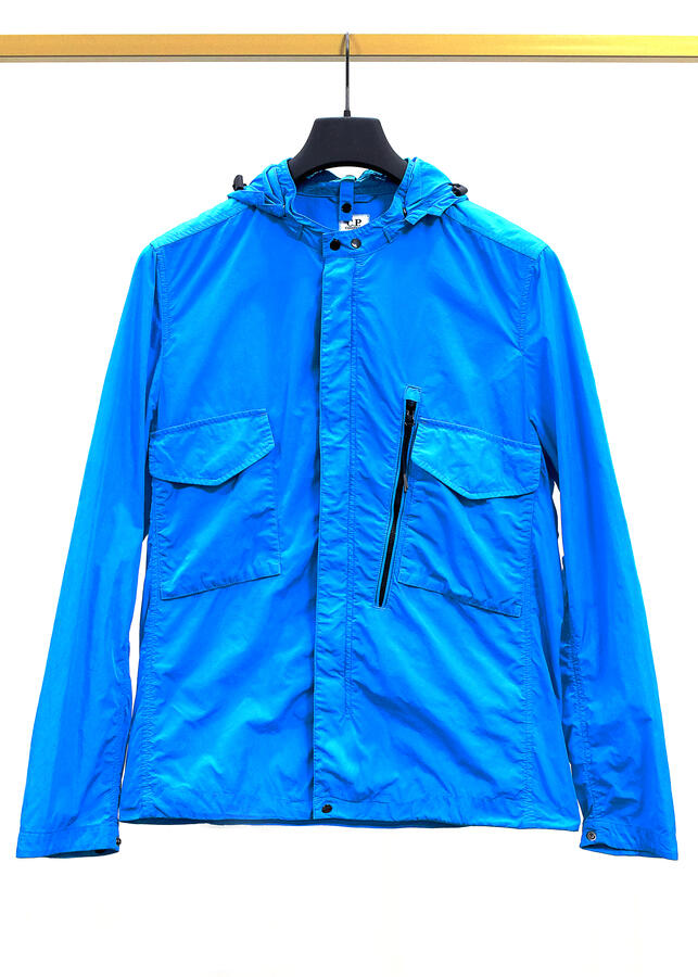 Giubbino C.P. Company jacket shirt-overshirt blu da uomo primaverile 04CMSH037A