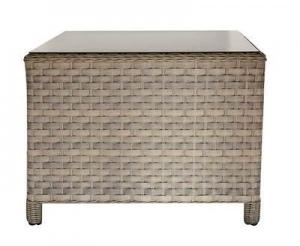 Set divanetti angolari professionali da Giardino TROPEA con 2 divani + angolare + poltrona tavolino rattan sintetico avana SET02