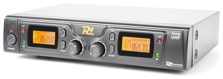 Power Dynamics - PD782 SISTEMA MICROFONICO WIRELESS UHF 2X 8 CANALI CON MICROFONI