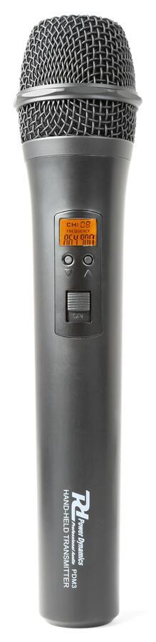 Power Dynamics - PD781 1X SISTEMA MICROFONICO WIRELESS UHF A 8 CANALI CON MICROFONO