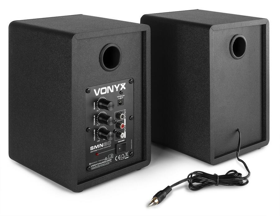"""Vonyx - COPPIA DI MONITOR DA STUDIO ATTIVI SMN30B DA 3"""""""