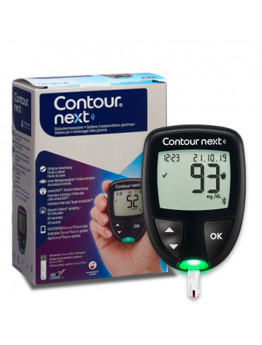 CONTOUR®NEXT - Sistema per il monitoraggio della glicemia + 100 strisce reattive