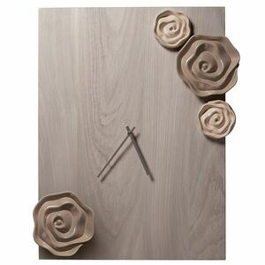 Orologio rettangolare con rose Wald