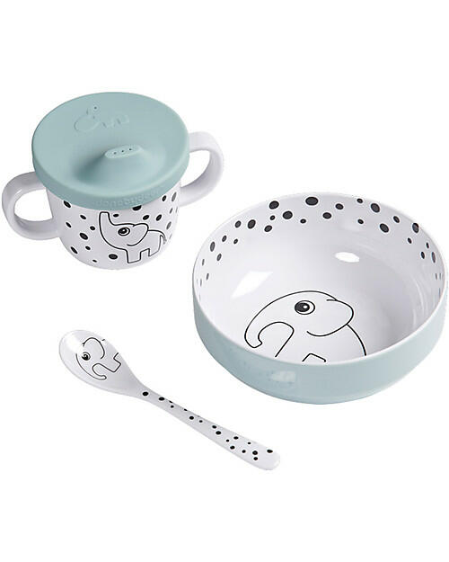 Set Pappa First Meal Happy Dots, Celeste