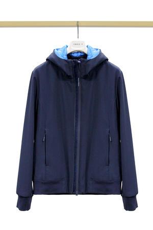 Giubbino People Of Shibuya Ninja blu navy con cappuccio da uomo 4 stagioni PM899