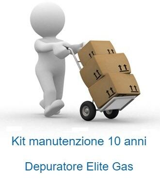 Kit manutenzione 10 anni per depuratore Elite Gas
