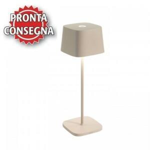 Lampada Ricaricabile da Tavolo OFELIA PRO Colore Sabbia di Zafferano in Pronta Consegna - Offerta di Mondo Luce 24