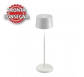 Lampada Ricaricabile da Tavolo OLIVIA PRO Colore Bianco di Zafferano in Pronta Consegna - Offerta di Mondo Luce 24