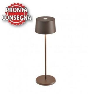 Lampada Ricaricabile da Tavolo OLIVIA PRO Colore Corten di Zafferano in Pronta Consegna - Offerta di Mondo Luce 24