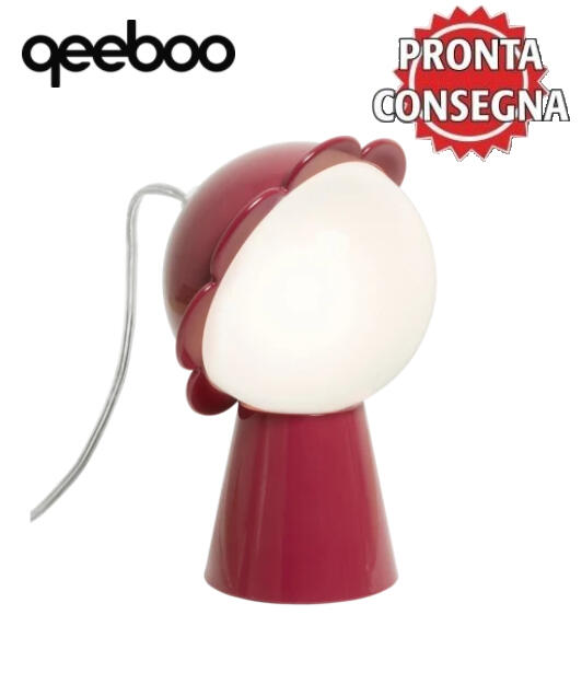 Lampada da Tavolo Daisy Colore Rosso di Qeeboo in Pronta Consegna - Offerta di Mondo Luce 24