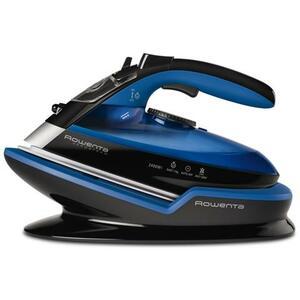 ROWENTA Ferro a Vapore Senza Filo Freemove DE5010 Ricarica Rapida 2400W Colore Nero / Blu Base Ergonomica
