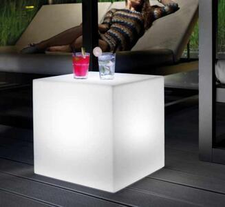 Pouf Luminoso al LED per Esterno HOME FITTING CUBO di Lyxo Design, Varie Misure - Offerta di Mondo Luce 24