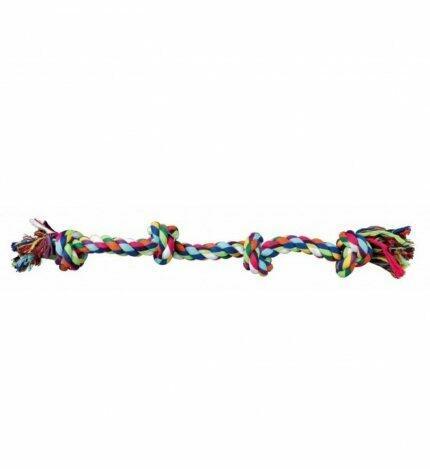 Trixie 3274 Gioco Per Cani Corda in Cotone Con 4 Nodi 54 cm