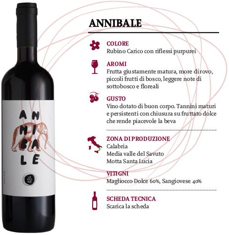 Vino Calabria Rosso IGT Annibale, Cantina Le Moire, 750 ml